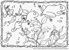 Céline Lamour-Crochet: Coloriage Nanard le petit têtard
