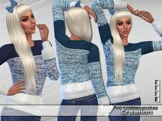 PZC Snowflake Gradient Sweater by Pinkzombiecupcakes at TSR via Sims 4 Updates