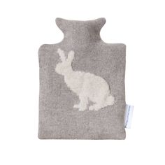 Rabbit Design Knitted Hot Water Bottle And Cover