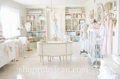 Fun space.  I would need more closed storage and I'd like it a little less frilly.