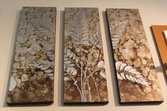 Silver Metallic Leaf Painting, Original Abstract Art, heavy textured by Palette Knife, Perfect for Wall Decor, Silver by Studio Mojo Artwork.  http://www.studiomojoartwork.com/pages/testimonials
