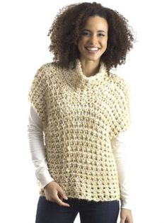 Cowl Vest | Yarn | Free Knitting Patterns | Crochet Patterns | Yarnspirations  I think I will leave off the cowl.