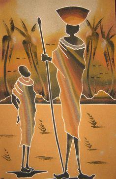 Blog dedicado a Senegal, que pretende acercarnos a su cultura, tradición y arte. En el mismo se pueden encontrar y adquirir objetos de su artesanía traidos desde este país, así como la posibilidad de hacer pedidos por encargo de cuadros, máscaras, bisutería, telas o cualquier otro objeto de artesanía senegalesa que se desee obtener African Art Paintings, Paintings I Love, Sand Painting, Painting & Drawing, African Quilts, Snoopy Pictures, Africa Art, Learn To Paint, Tribal Art