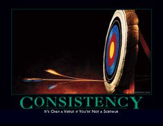 "My second favorite despair.com poster: ""Consistency.  It's only a virtue if you're not a total screwup"""