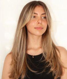 Bangs With Medium Hair, Medium Hair Styles, Short Hair Styles, Bangs For Long Hair, Brown Hair Bangs, Hair Styles Straight, Haircut Long Hair, Haircut Bangs, Blonde Hair With Bangs