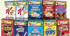 Coupons et Circulaires: .50¢ ou 1$ Céréales KELLOGG'S