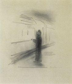 """Gerhard Richter, *1932 in Dresden, """"Express"""" 1965, 53x45cm, Graphit auf Papier"""