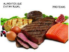 alimentos que evitam rugas proteinas