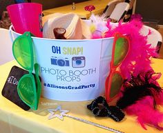 Graduation Party Phtoto Booth at TidyMom.net