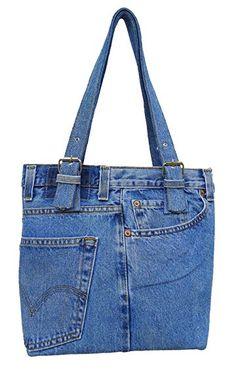 BDJ Oversize Blue Denim Jean Pants Hobo Style Women Shoulder Handbag: Handbags: Amazon.com