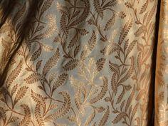 Brocade Fabric, indian brocade, Banaras silk, Silk Brocade Fabric, Brocade Fabric in Beige. This is a beautiful pure benarse silk brocade floral motifs design fabric in Beige and Gold. The fabric...