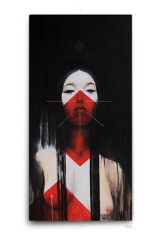 DARK III acrylics canvas by DZO Olivier, via Behance