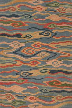 Gangchen Tibetan Wool Area Rug: Swirling Clouds (gold) - A Rug For All Reasons