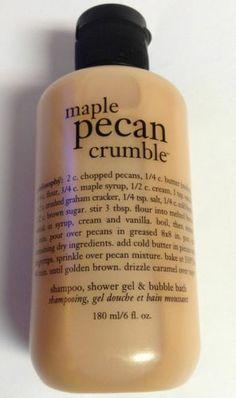 Philosophy Maple Pecan Crumble Shampoo, Shower Gel & Bubble Bath 6 fl oz NEW