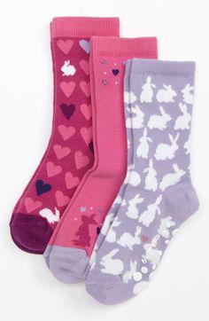Nordstrom 'Bunny Love' Crew Socks (3-Pack) (Girls) | Nordstrom