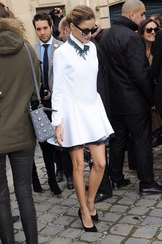 Loving Olivia Palermo style in Paris. #oliviapalermo