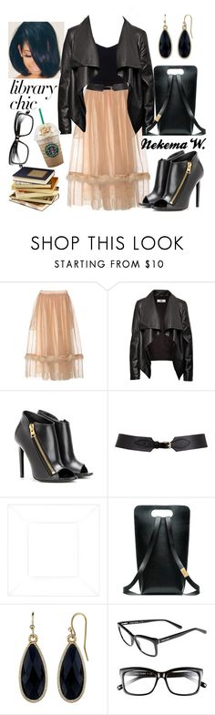 """""""New Library Chic 👓"""" by sexyshonda ❤ liked on Polyvore featuring Simone Rocha, HIDE, Tom Ford, Maison Boinet, 1928 and Bobbi Brown Cosmetics"""