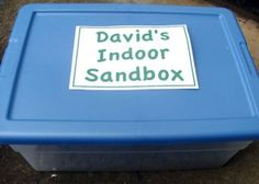 Do you need an easy and inexpensive gift for a child's birthday, guaranteed to please the younger crowd? This Indoor Sandbox contains real sand, but in a contained area with toys that encourage play.
