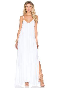 Indah Rain Maxi Dress in White