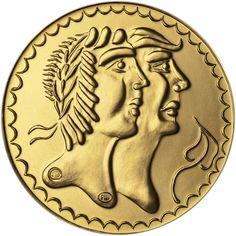 Biatec - Zlatá replika hexadrachmy bratislavského typu ve formátu 1 dukátu 2d