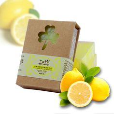 100g Naturel Lemon Essentiel Savon À La Main D'huile Condition L'humidité Frais le Contrôle Du Pétrole Du Visage Savon De Bain Livraison Gratuite