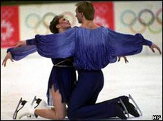 "Torvill and Dean - the legendary Bolero ice dance at the 84 Winter Olympics.  The first team ever to score all perfect 6's for artistic impression.  Historic - the figure skating competitions were like my ""superbowls""."