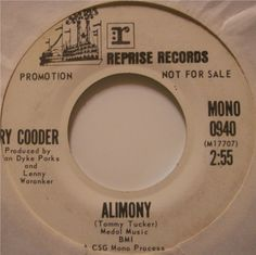 "Ry Cooder ""Alimony"" Reprise Records 1970"