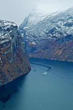 Geirangerfjord, Noorwegen. https://www.hotelkamerveiling.nl/hotels/noorwegen.html