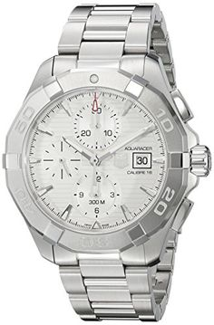 TAG Heuer Mens Aquaracer Swiss Automatic Stainless Steel Dress Watch ColorSilverToned Model CAY2111BA0927 * For more information, visit image link. This Amazon pins is an affiliate link to Amazon.