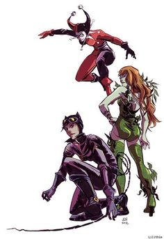 Harley Quinn, Poison Ivy, & Cat Woman