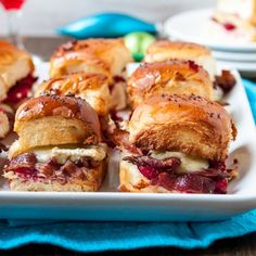 Bacon, Brie, and Cranberry Sliders.