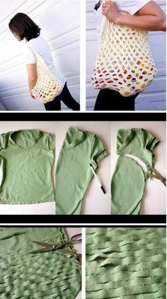 mesh bag t-shirt make-do
