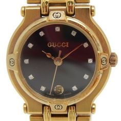 Pre-owned Gucci 9200L Gold Plated Quartz 25mm Womens Watch ($314) ❤ liked on Polyvore featuring jewelry, watches, gucci wrist watch, quartz jewelry, gold plated jewelry, preowned watches and pre owned watches
