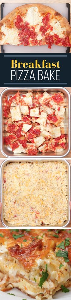 Here's How To Turn Leftover Pizza Into Breakfast Brent Baker Breakfast Pizza, Breakfast Recipes, Breakfast Items, Breakfast Casserole, Brunch Recipes, Dinner Recipes, Smoothies, Leftover Pizza, Buzzfeed Tasty