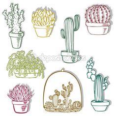 Cactus set — Stock Illustration #6775484