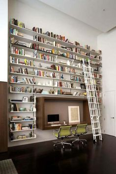 50 Stylish Home Library Designs | Furnish Burnish