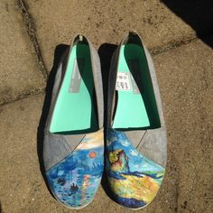 Painted shoes  custom Monet shoes by AsYouWishpainting on Etsy