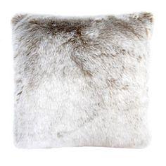 faux reindeer fur pillow