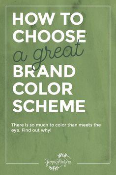 ¿Cómo elegir un buen esquema de color de la marca que se ajuste a tu blog o negocio.  |  Guarnición Co.