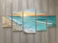 5 panel painting on canvas