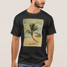 Key West t-shirt featuring a palm tree on a sandy beach with blue sky and ocean. This cool Vintage Key West Florida tee makes a great gift! Size: Adult L. Key West Florida, Bora Bora, Vintage Travel, Cool Shirts, Tshirt Colors, Fitness Models, Palm, Ocean, Tees