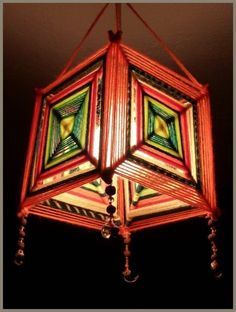 DIY Lantern Ideas: This festive season, make ur home Glitter n Glow with these 20 Easy DIY Kandils or Lanterns…. Like our page, if you liked these ideas… – The Mommypedia God's Eye Craft, Art N Craft, Diy Art, Yarn Crafts, Diy And Crafts, Arts And Crafts, Diwali Lantern, Gods Eye, Ideias Diy