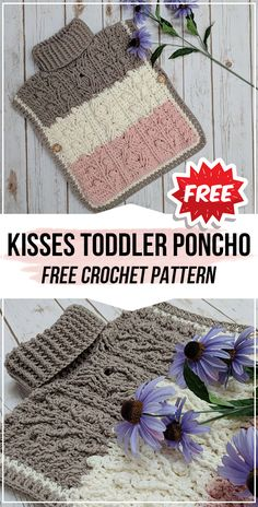 crochet Hugs and Kisses Toddler Poncho free pattern - easy crochet poncho pattern for beginners # crochet poncho free pattern kids crochet Hugs and Kisses Toddler Poncho free pattern Crochet Baby Poncho, Crochet Toddler, Crochet Girls, Crochet For Kids, Kids Poncho Pattern, Poncho Knitting Patterns, Free Pattern, Crochet Patterns, Toddler Poncho