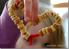 Pipe cleaners and beads from @mamasmiles - threading is a great fine motor activity. (or cheerios or fruit loops)
