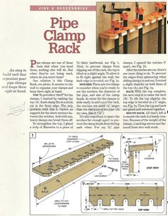 Clamp Rack Plans - Workshop Solutions Projects, Tips and Tricks | WoodArchivist.com