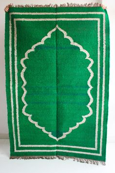 Oh My Emerald  Floor rug in 5 x 7 Feet by gypsya on Etsy, $348.00