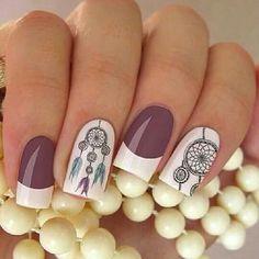 Fancy Nails Designs, New Nail Designs, Pretty Nail Art, Beautiful Nail Art, Indian Nails, Aztec Nails, Polka Dot Nails, Perfect Nails, Nail Polish Colors