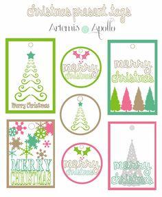 Artemis and Apollo: Freebie: Printable Christmas Gift Tags