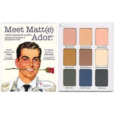 Meet Matt(e) Ador. Matte Eyeshadow Palette ($42) ❤ liked on Polyvore featuring beauty products, makeup and palette makeup