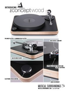 Clearaudio Concept Wood turntable ad.